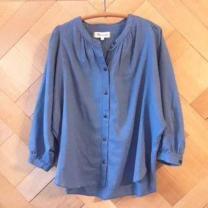 Madewell Blue Blouse